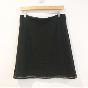 Kate Spade Delphina Wool Boucle Skirt with Chain
